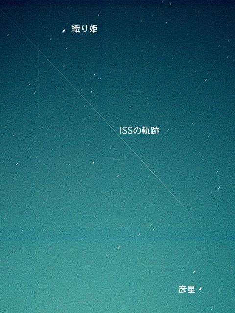 1999年7月7日、七夕の晩に撮影されたISS